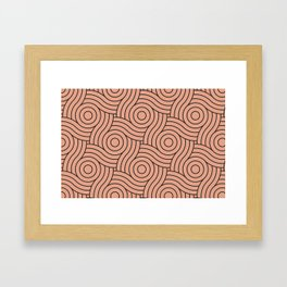 Circle Swirl Pattern Pastel Pink, Inspired By Pratt and Lambert Earthen Trail 4-26 Framed Art Print