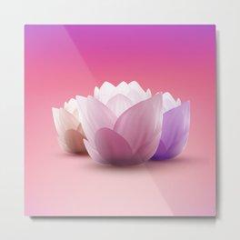 Elegant Gentle  Rose Lotus / Lily flower Metal Print