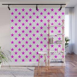 Stars (Magenta & White Pattern) Wall Mural