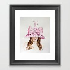 Pink Derby Hat Framed Art Print