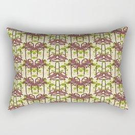 Modern Foral Chevron Rectangular Pillow