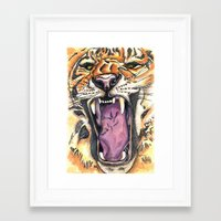 jaws Framed Art Prints featuring Jaws by Heaven7