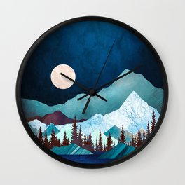Moon Bay Wall Clock