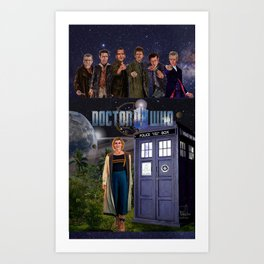 7 Doctors 5 Art Print