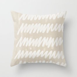 static grey Throw Pillow