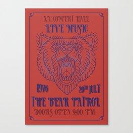 Concert Poster Canvas Print