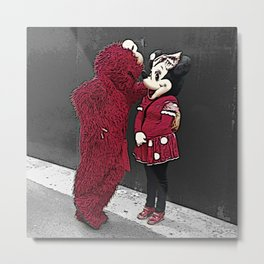 Elmo and Minnie in New York Metal Print