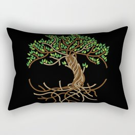 Rope Tree of Life. Rope Dojo 2017 black background Rectangular Pillow