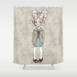 JAPANESSE DOLL ILLUSTRATION BY ALBERTO RODRÍGUEZ Shower Curtain