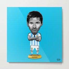 Footy Figures / Messi Metal Print