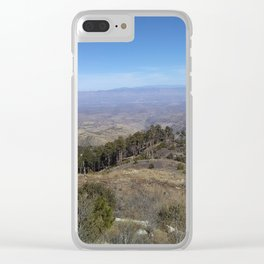 Rolling Desert Mountains Clear iPhone Case
