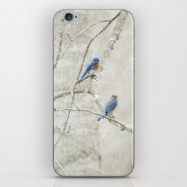 Bluebirds in Spring iPhone Skin