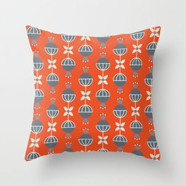RETRO RED Throw Pillow