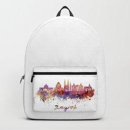 Zagreb skyline in watercolor Backpack
