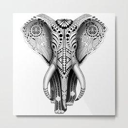 White Elefunk Metal Print