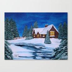 Winter landscape-1 Canvas Print