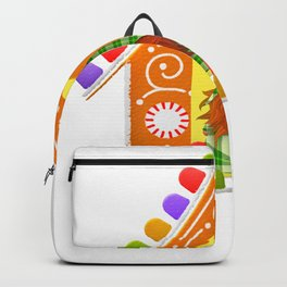 Christmas Gnome Gingerbread House Backpack