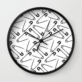 Safety Pins Wall Clock