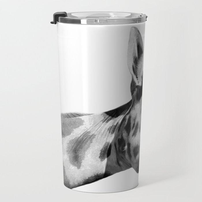 Black and white giraffe Travel Mug