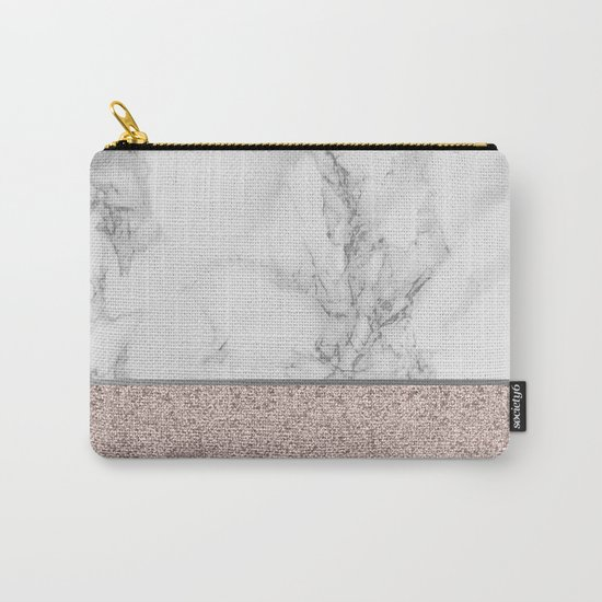 Marble + Glitter #2 Carry-All Pouch