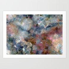 Colorful watercolor nebula onyx Art Print