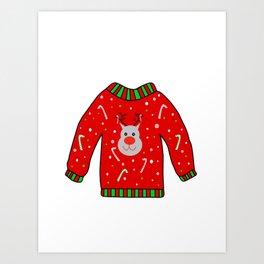 Ugly Christmas Sweater Art Print