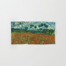 Vincent Van Gogh Poppy Field Hand & Bath Towel