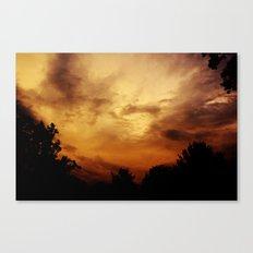 Fire Skies Canvas Print
