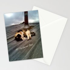All Tuckered Out Stationery Cards