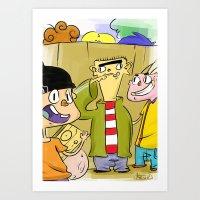 Ed's Art Print