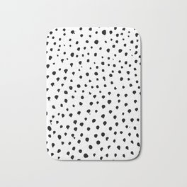 Dalmatian dots black Bath Mat