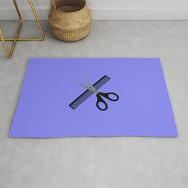 scissors & comb Rug
