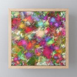 Falling petals Framed Mini Art Print