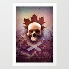 Skull and Leaf Art Print
