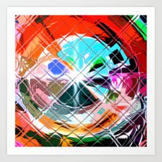 Harlekin abstrakt. Art Print