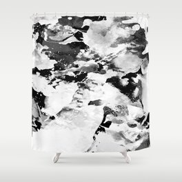 Blk Marble Shower Curtain