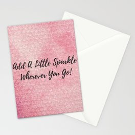 Add a little sparkle wherever you go! Stationery Cards