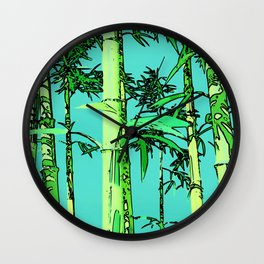 Bamboo cartoonized Wall Clock