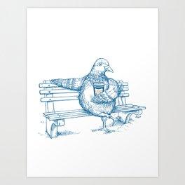 Cup O' Coffee NYC Style_pigeon Kunstdrucke