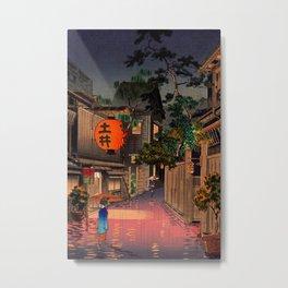 Evening At Ushigome By Tsuchiya Koitsu Metal Print
