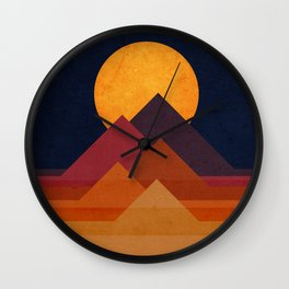 Full moon and pyramid Wall Clock