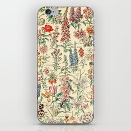 Vintage Floral Drawings // Fleurs by Adolphe Millot XL 19th Century Science Textbook Artwork iPhone Skin