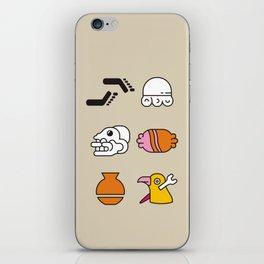 AZTEC~Nahuatl Glyphs iPhone Skin