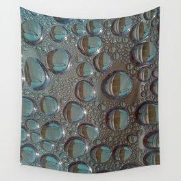 Reflective Rain Drops Wall Tapestry