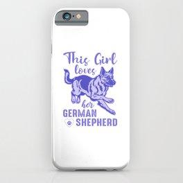 This Girl Loves Her German Shepherd pu iPhone Case