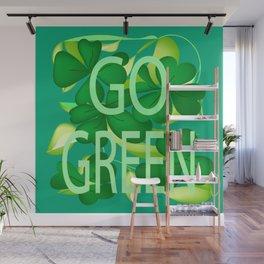 """Go Green"" Wall Mural"