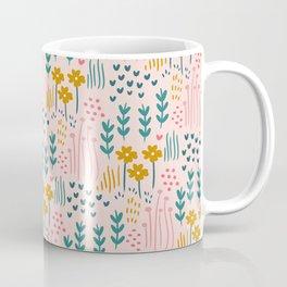 Floral Pink Garden Coffee Mug