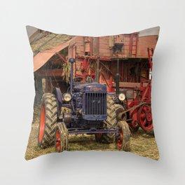Fordson Baler  Throw Pillow