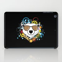 hip hop iPad Cases featuring Hip-Hop Polar Bear by 1986