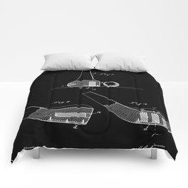 Golf Club Patent (v2) - Black Comforters